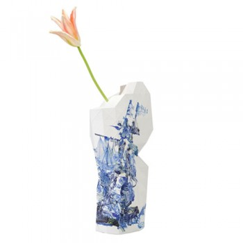 Pepe Heykoop - Paper Vase cover Delft Blue Icons